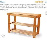 Natural Bamboo Bench