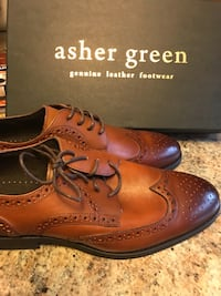pair of brown leather wingtip oxford shoes Bryant, 72022