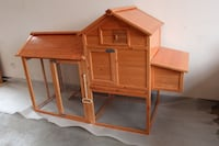82 Inch Wooden Chicken Rabbit Poultry Coop Hen House Pet Cage AY0310L Avon