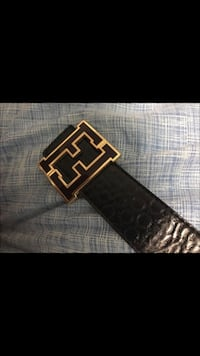 black Fendi leather belt