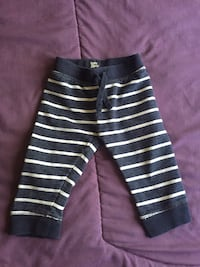 toddler's black and white striped pants
