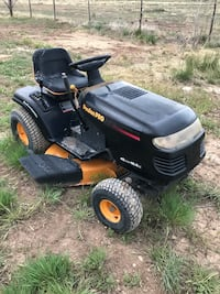 black and yellow ride on mower Cedar City, 84721