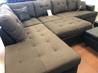 3pc Chocolate Brown Sectional ! Only $599 NEW 9'x7' W/ ottoman  North Las Vegas, 89030