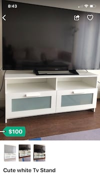 white and brown wooden TV stand Houston, 77063