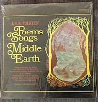 JRR Tolkien Reading Hobbit, LOTR, Poetry and Song from Middle Earth - Vintage LPs Riverbank, 95367