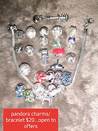 """Pandora"" braclet with any charms!"