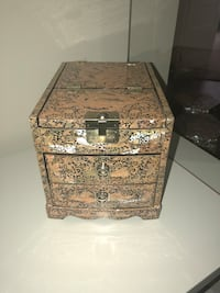 "Mother of pearl jewelry box with mirror and multiple drawers 10""7""7"" Rockville, 20850"