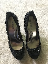 pair of black leather flats Sparta, 07871