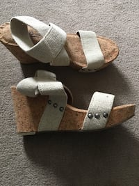 Lucky Brand cork wedge sandals, 7 1/2 (never worn) Brookline, 02446