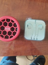 Ear buds+speaker with aux and Bluetooth