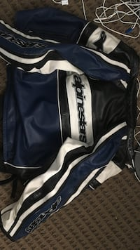 Black, white, and blue leather alpine star jacket San Diego, 92117
