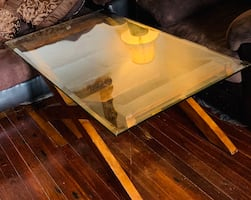 Glass living room table and small glass table