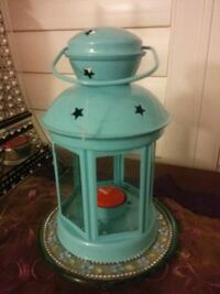 teal and white plastic container Hamilton
