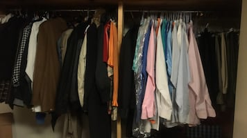 Assorted fine men's clothing.
