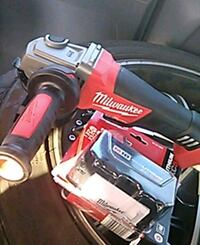 Milwaukee Fuel grinder w/ 5.0 battery Moreno Valley, 92551