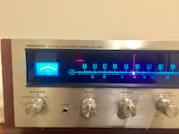 Vintage Pioneer SX-424 AM/FM Stereo Receiver Silver Spring