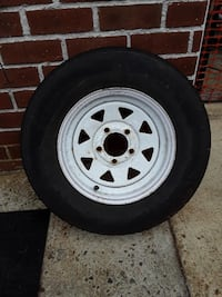 """13"""" Trailer Rims, tires not great but rims in good condition"""