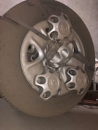 Stock wheels and tires from Toyota Tundra, not much tread left 2340 mi