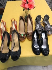 women's four pairs of assorted shoes ATLANTA