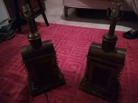two black and brown table lamps Satsuma, 36572