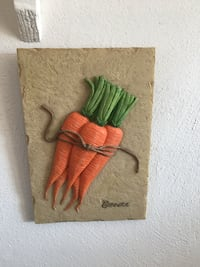 3 carrots ornament