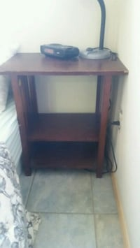 2 side tables great condition $20, wood TV stand $40 Red Deer, T4N 4B3