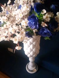 white and blue artificial flowers New York, 10001