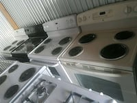 white and black electric coil range oven Temple Hills, 20748