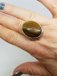Tigers Eye and Silver Ring  Edmonton, T5W 3T4