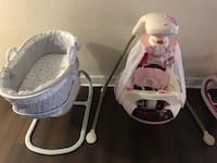 Baby's white and pink cradle and swing Leto, 33614