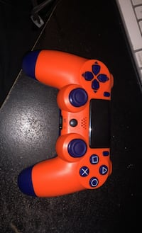 Orange and Blue PS4 Controller