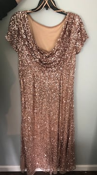 Adrianna Papell Rose Gold Sequin Size 20 Gown/Dress Boonsboro, 21713