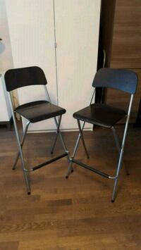 Ikea Franklin bar height folding chairs  Montreal, H4G 1Z2