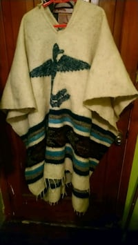 Traditional pure  wool poncho
