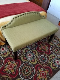 Upholstered Bench Settee Chunky Nailhead Trim NEW, Use for Dining Room Table, Mudroom, End of Bed Garner
