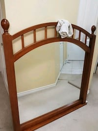 brown wooden framed wall mirror Burnaby, V5H 1H7