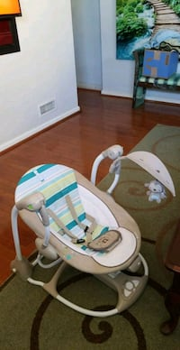 baby's white and green bouncer Capitol Heights, 20743
