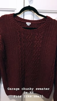 red scoop-neck sweater Grande Prairie, T8V 0C1