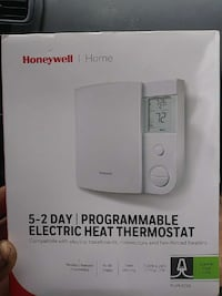 Honeywell programmable electric heat thermostat box