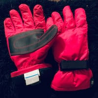 Kids Pink & Black Columbia Gloves Sz Youth Large Cabot, 72023
