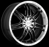 Black and Silver car rims and tires Edmonton, T6T 1V6