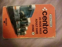Centro bus pass  East Syracuse, 13057