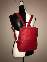 Fossil Leather Backpack (Red) Milton, L9T 4K1