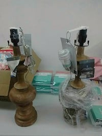 Brand new wooden lamp $20 each Brampton, L6R 3B7