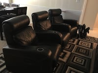 Leather movie theater style power recliners Frederick, 21701
