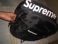 black and white Supreme backpack Whitby