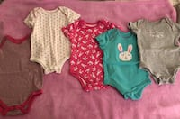 "Member's Mark ""Some Bunny Loves Me"" 5pk Bodysuits (6-9 Months) West Covina, 91792"