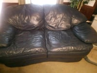 brown leather 2-seat sofa Lincoln, 35096