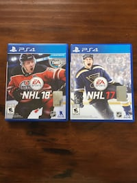 NHL18, NHL17 for PS4