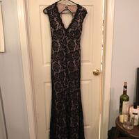 Black and gray floral sleeveless dress Fairfax, 22030